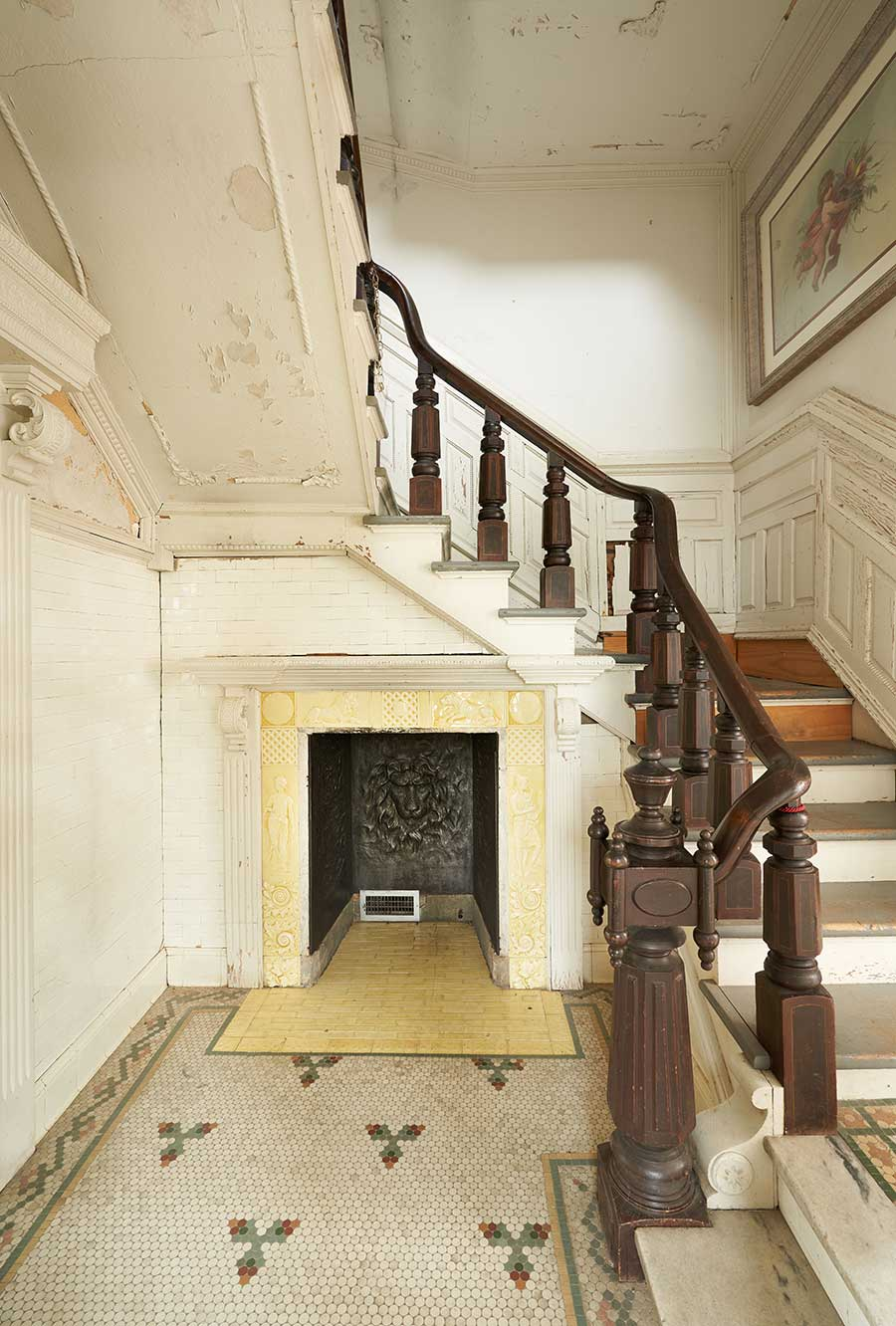 The North Staircase, before restoration