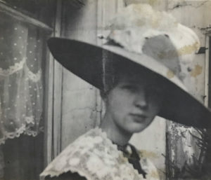 "Doré: A woman who wore many ""hats"" literally and figuratively – her various roles were unusual of a woman in the 1910's. Pictured here in Paris in 1912."