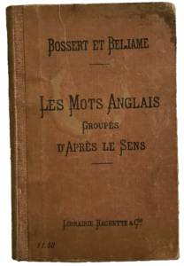 "Translated Title: ""English Words Group According to Meaning"" – Bossert and Beljame"