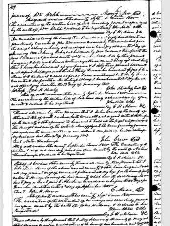 "The Deed of Sale for Clara (""Clary""), 1844"